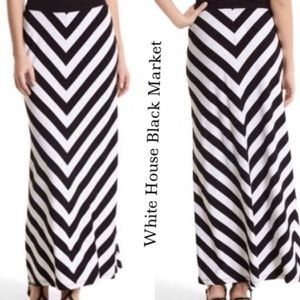WHBM Black & White Maxi Skirt